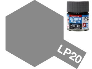 Tamiya 82120 LP-20 Light Gun Metal 10 ml